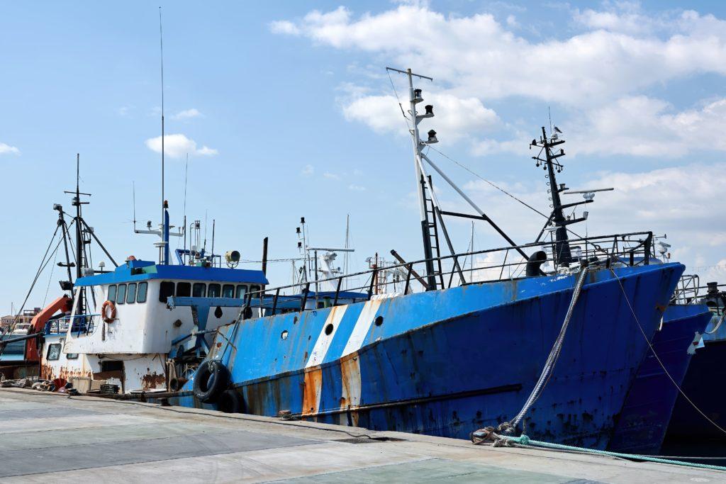 buques gallegos recuperan el caladero de Guinea Bisáu, barcos