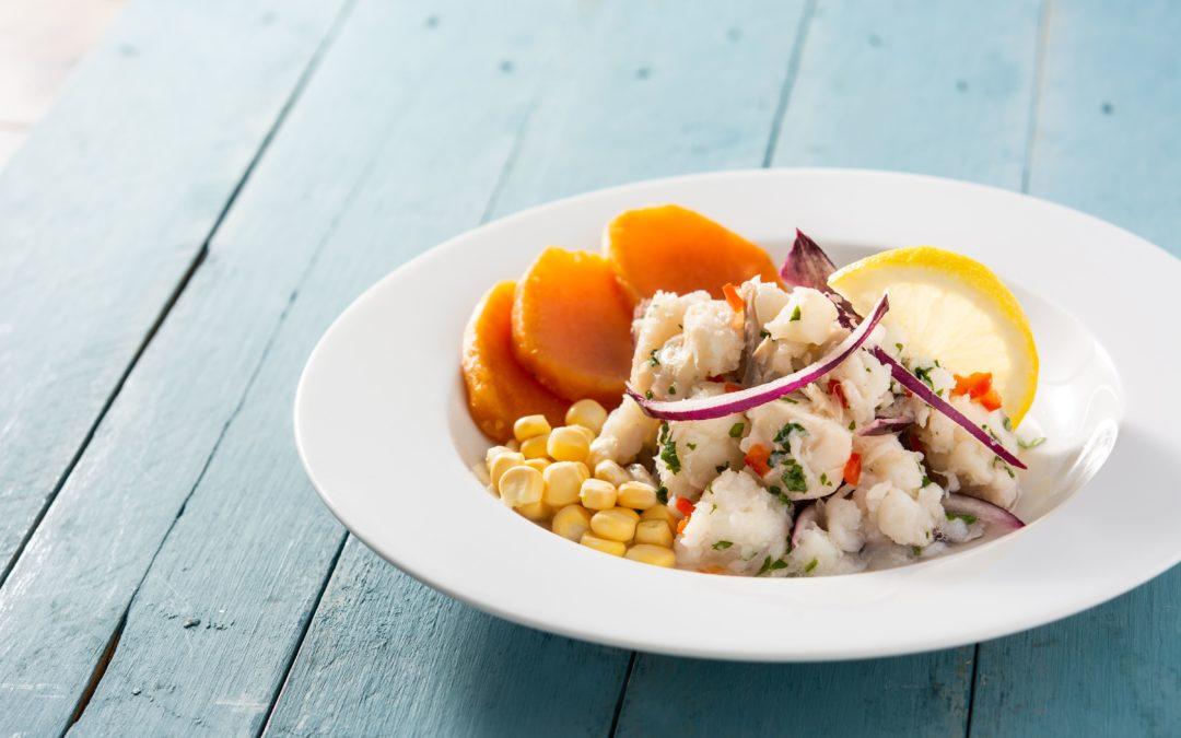 receta ceviche peruano pez sable