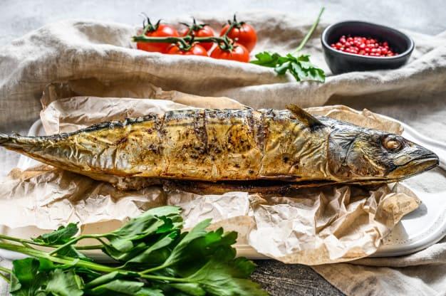 Receta de Caballa al horno con albahaca y cilantro
